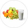 Fruit diet with milk